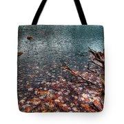 Leaves In The Lake Tote Bag