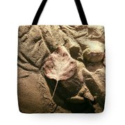 Leaves In The Sand Tote Bag
