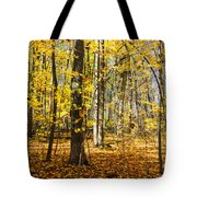 Leaves In The Woods Tote Bag