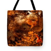 Leaves Of Gold Tote Bag by Lourry Legarde