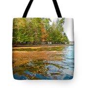 Leaves On Fourth Lake Tote Bag