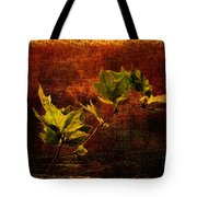 Leaves On Texture Tote Bag