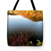 Leaves On The Lake Tote Bag