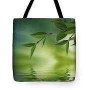 Leaves Reflecting In Water Tote Bag by Aged Pixel