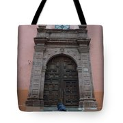 Leaving Church Lighthearted Tote Bag