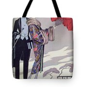 Leaving For The Casino Tote Bag by Georges Barbier