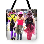 Leaving Spanish Town Parade  Tote Bag