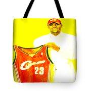 Lebron James Going Home Tote Bag