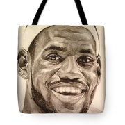 Lebron James Tote Bag by Tamir Barkan