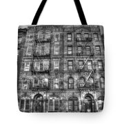 Led Zeppelin Physical Graffiti Building In Black And White Tote Bag