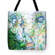 Led Zeppelin - Watercolor Portrait.2 Tote Bag