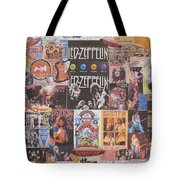 Led Zeppelin Years Collage Tote Bag