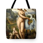 Leda And Swan Tote Bag