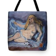 Leda And The Swan By Cezanne Tote Bag