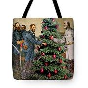 Lee And Grant At Appomattox Tote Bag