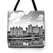 Leeds Castle Black And White Tote Bag