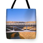 Lees Ferry In Marble Canyon, Navajo Tote Bag