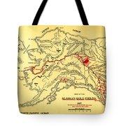 Lees Map Of The Alaskan Gold Fields 1897 Tote Bag