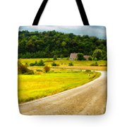 Left Hand Curve Tote Bag