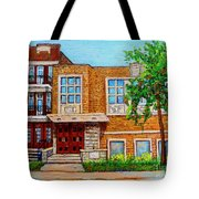 Legare And Hutchison Synagogue Montreal Tote Bag