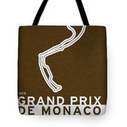 Legendary Races - 1929 Grand Prix De Monaco Tote Bag