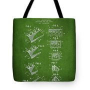 Lego Toy Building Blocks Patent - Green Tote Bag by Aged Pixel