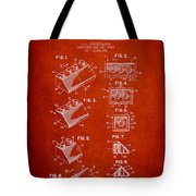 Lego Toy Building Blocks Patent - Red Tote Bag