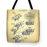 Lego Toy Building Brick Patent - Vintage Tote Bag