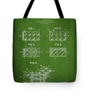 Lego Toy Building Element Patent - Green Tote Bag
