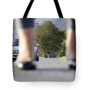 Legs And Car Tote Bag
