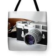 Leica M3 With Leather Strap Tote Bag