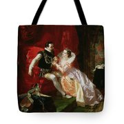 Leicester And Amy Robsart At Cumnor Tote Bag by Edward Matthew Ward