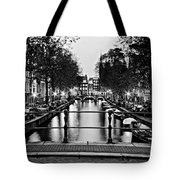 Leidsegracht Canal At Night / Amsterdam Tote Bag