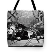Leif Erickson Cameron Mitchell Mark Slade Attacking Apaches 1 High Chaparral Old Tucson 1969-2009 Tote Bag