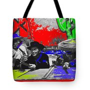 Leif Erickson Cameron Mitchell  Mark Slade Number 2 The High Chaparral Set Old Tucson Az 1969-2008 Tote Bag
