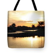 Lely Sunrise Over The Flamingo Tote Bag