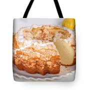 Lemon Bundtcake With Wedge Cut Out Tote Bag