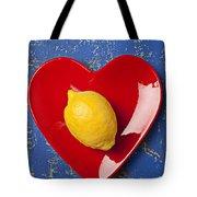 Lemon Heart Tote Bag by Garry Gay