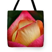 Lemon Raspberry Rosebud Tote Bag