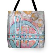Lemon Rocks And Water Rings Tote Bag
