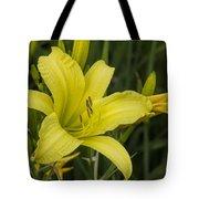 Lemon Yellow Daylily Blossom Tote Bag