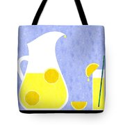 Lemonade And Glass Blue Tote Bag