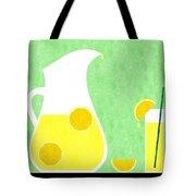 Lemonade And Glass Green Tote Bag