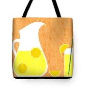 Lemonade And Glass Orange Tote Bag