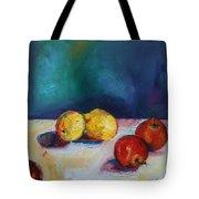 Lemons And Apples Tote Bag