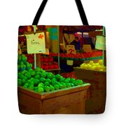 Lemons And Limes Farmers Market Food Stalls Market Vendors Vegetable Food Art Carole Spandau Tote Bag