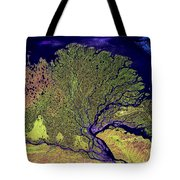 Lena River Delta Tote Bag by Adam Romanowicz