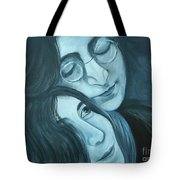 Lennon And Ono Tote Bag
