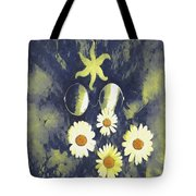 In The Gothic Night With  Stars Tote Bag