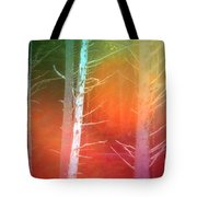 Lens Flare In The Forest Tote Bag